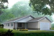 Ranch Style House Plan - 3 Beds 2 Baths 1510 Sq/Ft Plan #1-1271 Exterior - Front Elevation