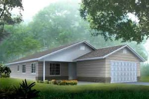 Ranch Exterior - Front Elevation Plan #1-1271