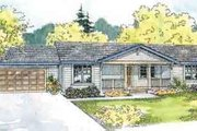 Ranch Style House Plan - 3 Beds 2 Baths 1404 Sq/Ft Plan #124-527 Exterior - Front Elevation