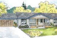 Ranch Exterior - Front Elevation Plan #124-527