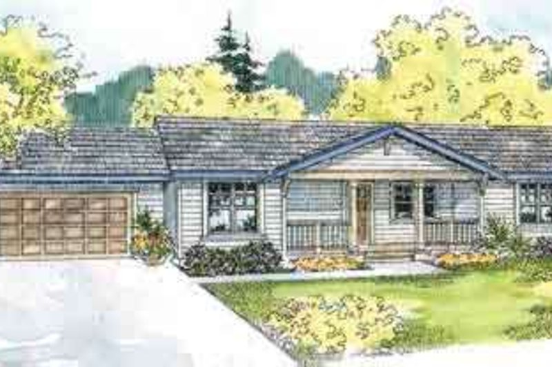 Dream House Plan - Ranch Exterior - Front Elevation Plan #124-527