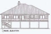 Beach Style House Plan - 3 Beds 2 Baths 1902 Sq/Ft Plan #14-252 Exterior - Rear Elevation