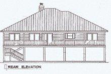 Architectural House Design - Beach Exterior - Rear Elevation Plan #14-252