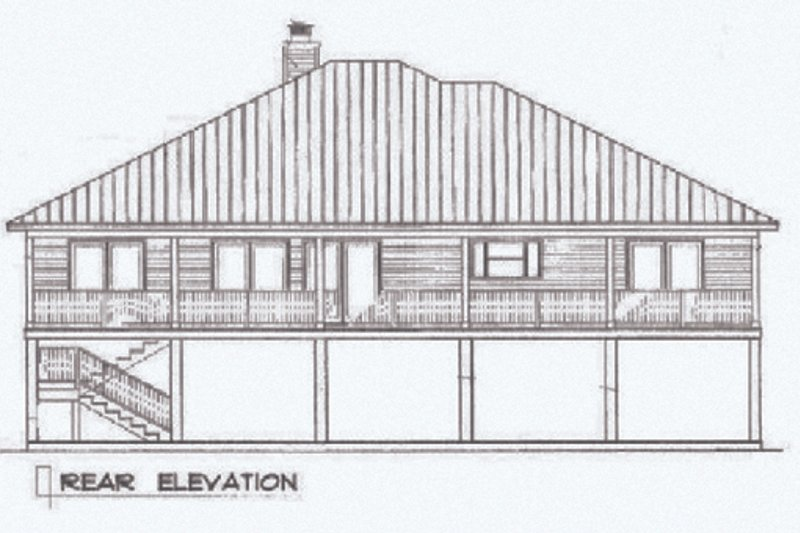 Beach Exterior - Rear Elevation Plan #14-252 - Houseplans.com