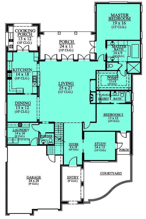European Floor Plan - Main Floor Plan Plan #430-112
