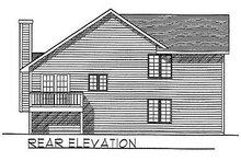 House Plan Design - Traditional Exterior - Rear Elevation Plan #70-108