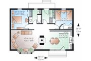 Cottage Style House Plan - 2 Beds 1 Baths 874 Sq/Ft Plan #23-754 Floor Plan - Main Floor Plan