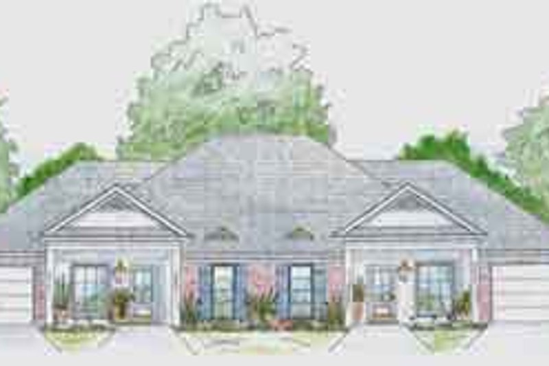 Southern Exterior - Front Elevation Plan #36-439