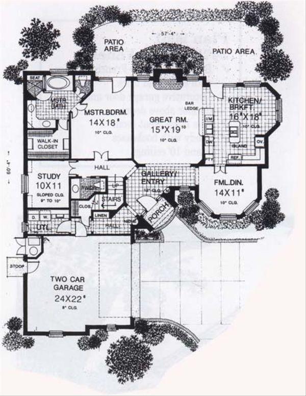 Traditional Floor Plan - Main Floor Plan Plan #310-833