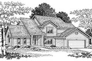Traditional Style House Plan - 4 Beds 2.5 Baths 2053 Sq/Ft Plan #70-294 Exterior - Front Elevation