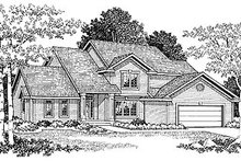 Traditional Exterior - Front Elevation Plan #70-294