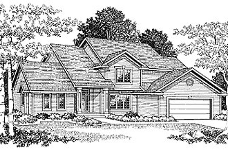 Dream House Plan - Traditional Exterior - Front Elevation Plan #70-294