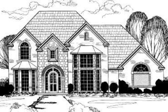 European Exterior - Front Elevation Plan #317-117