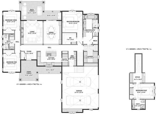 Home Plan - Farmhouse Floor Plan - Main Floor Plan #928-361