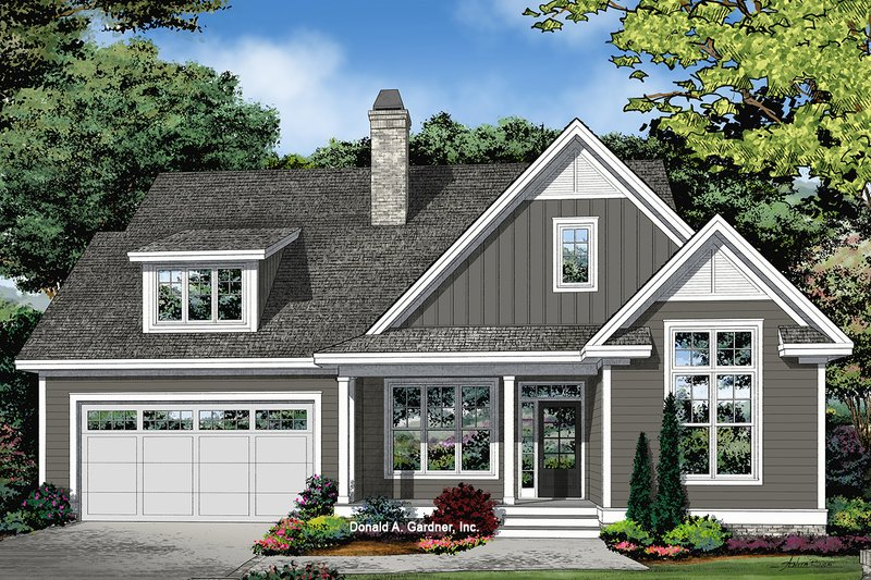 Architectural House Design - Farmhouse Exterior - Front Elevation Plan #929-1095