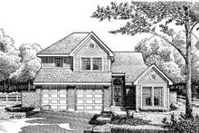 Dream House Plan - European Exterior - Front Elevation Plan #410-329