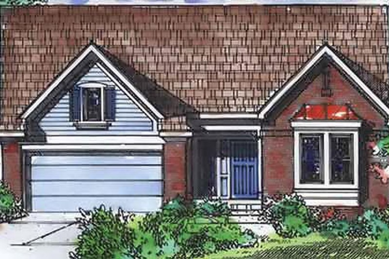 Traditional Exterior - Front Elevation Plan #320-402 - Houseplans.com