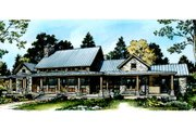 Ranch Style House Plan - 3 Beds 2.5 Baths 2693 Sq/Ft Plan #140-149 Exterior - Rear Elevation