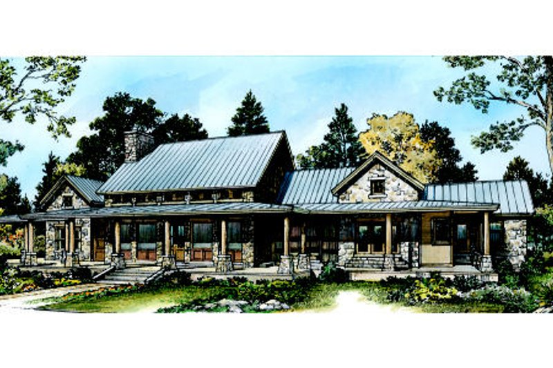 Ranch Exterior - Rear Elevation Plan #140-149 - Houseplans.com