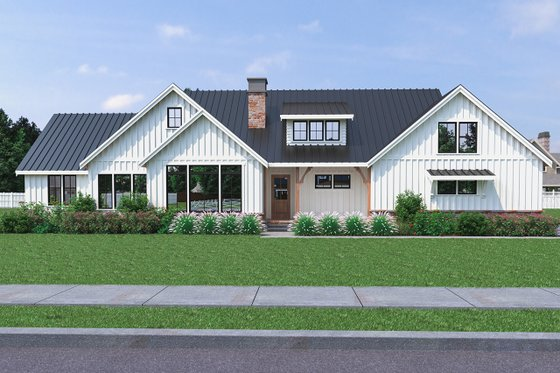 Home Plan - Farmhouse Exterior - Front Elevation Plan #1070-31