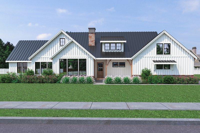House Plan Design - Farmhouse Exterior - Front Elevation Plan #1070-31
