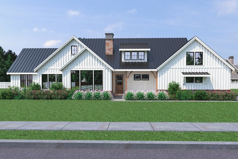 Dream House Plan - Farmhouse Exterior - Front Elevation Plan #1070-31