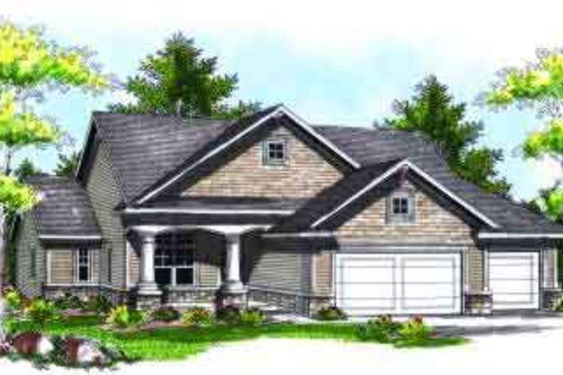 Home Plan - Bungalow Exterior - Front Elevation Plan #70-708