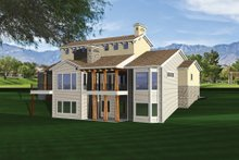 Mediterranean Exterior - Rear Elevation Plan #70-1093