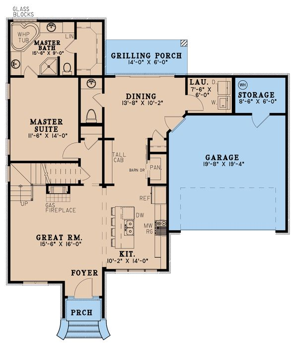 House Blueprint - Traditional Floor Plan - Main Floor Plan #923-191
