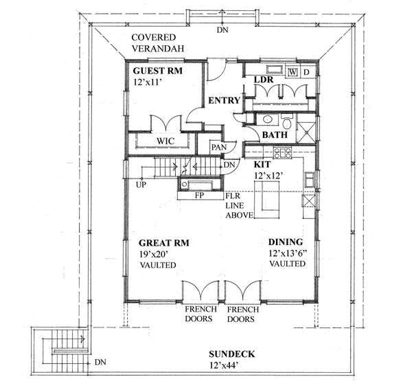 Cottage Floor Plan - Main Floor Plan Plan #118-173