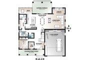 Farmhouse Style House Plan - 5 Beds 4.5 Baths 3497 Sq/Ft Plan #23-2686 Floor Plan - Main Floor Plan