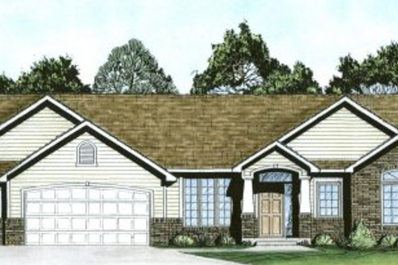 Ranch Exterior - Front Elevation Plan #58-198 - Houseplans.com