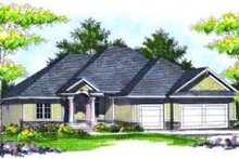 Dream House Plan - Traditional Exterior - Front Elevation Plan #70-714