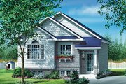 Cottage Style House Plan - 2 Beds 1 Baths 886 Sq/Ft Plan #25-127 Exterior - Front Elevation