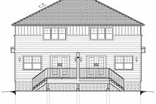 Architectural House Design - Craftsman Exterior - Rear Elevation Plan #126-203