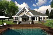 Craftsman Style House Plan - 4 Beds 3 Baths 2370 Sq/Ft Plan #51-570 Exterior - Other Elevation