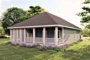 Craftsman Style House Plan - 3 Beds 2 Baths 1587 Sq/Ft Plan #44-232 Exterior - Rear Elevation