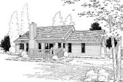 Ranch Style House Plan - 3 Beds 2 Baths 1575 Sq/Ft Plan #312-271 Exterior - Rear Elevation