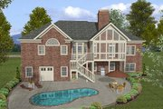 Traditional Style House Plan - 4 Beds 2.5 Baths 2000 Sq/Ft Plan #56-577 Exterior - Rear Elevation