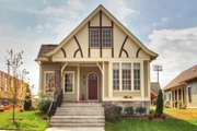 Tudor Style House Plan - 3 Beds 2 Baths 2098 Sq/Ft Plan #900-8 Exterior - Front Elevation