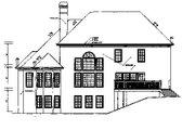 European Style House Plan - 4 Beds 3.5 Baths 3445 Sq/Ft Plan #129-161 Exterior - Rear Elevation