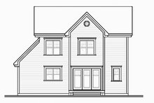 Architectural House Design - Farmhouse Exterior - Rear Elevation Plan #23-2257