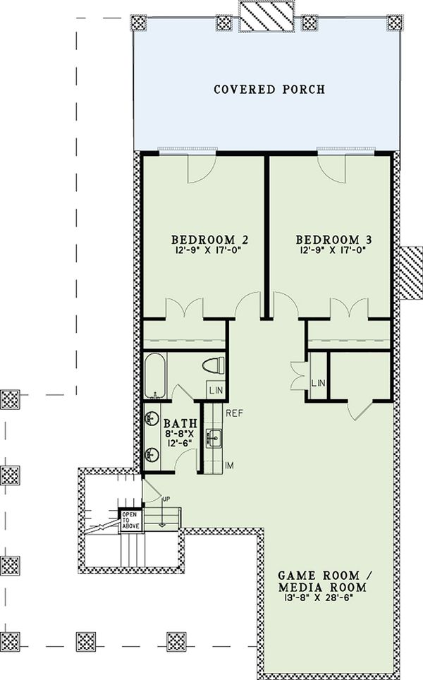 Country Floor Plan - Lower Floor Plan Plan #17-2533