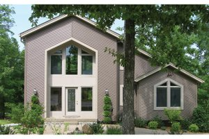 Dream House Plan - Contemporary Exterior - Front Elevation Plan #57-150
