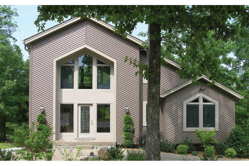 Contemporary Exterior - Front Elevation Plan #57-150 - Houseplans.com