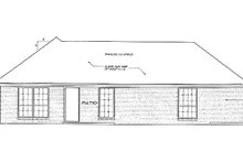 Dream House Plan - Traditional Exterior - Rear Elevation Plan #310-808