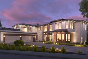 Dream House Plan - Contemporary Exterior - Front Elevation Plan #1066-135