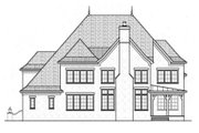 European Style House Plan - 4 Beds 5 Baths 3798 Sq/Ft Plan #413-800 Exterior - Rear Elevation