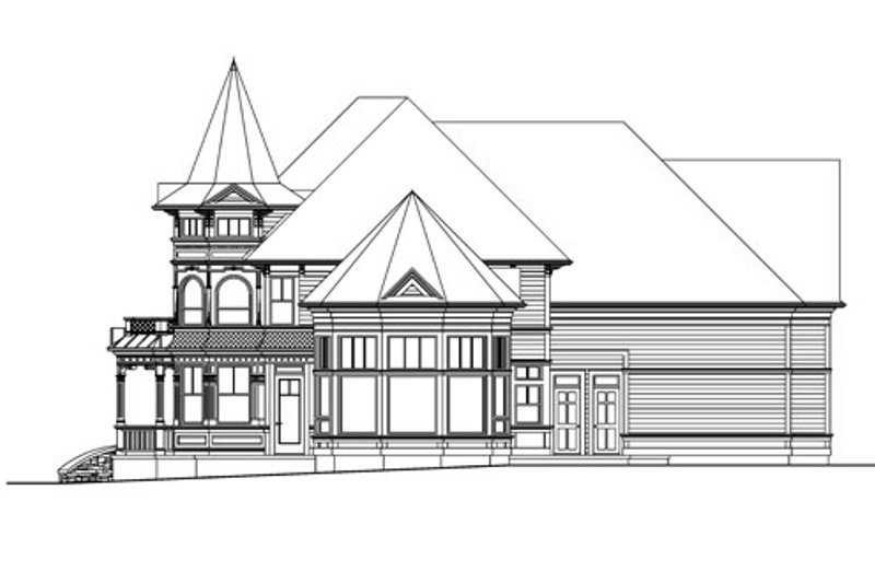 Victorian Exterior - Other Elevation Plan #124-559 - Houseplans.com
