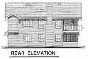 Farmhouse Style House Plan - 3 Beds 2 Baths 1324 Sq/Ft Plan #18-210 Exterior - Rear Elevation